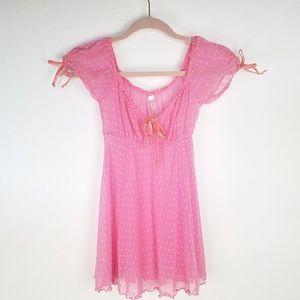VS Shear Mesh Pink Babydoll Overlay [Small]